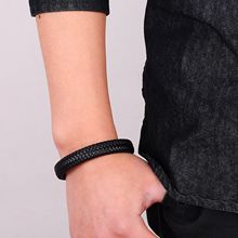 Genuine Black Leather Bracelet