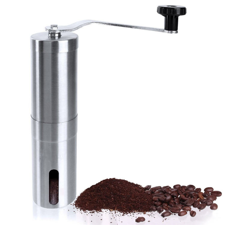 Manual Coffee Grinder Conical Burr Mill for Precision Brewing Brushed Stainless Steel Manual grinding coffee machine manual coffee grinder conical burr mill stainless steel portable hand burr grinders