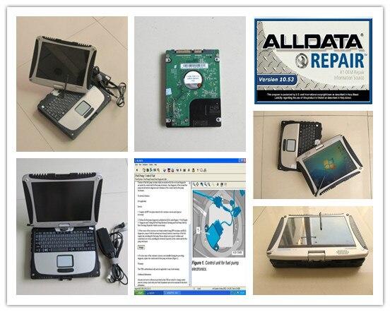 Software diagnostico auto alldata 10.53 mitchell su richiesta installato nel computer portatile cf19 cf-19 toughbook hard disk da 1 tb windows7