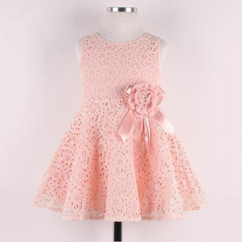 2018 Kids Girls Flower Dresses Summer Toddler Baby Girls Lace Floral Dress One Piece Party Princess Dresses For Girls Vestido 2017 summer girls dresses toddler baby girl ruffle floral sleeveless dress sundress briefs bottom 2pcs set flower girls dresses