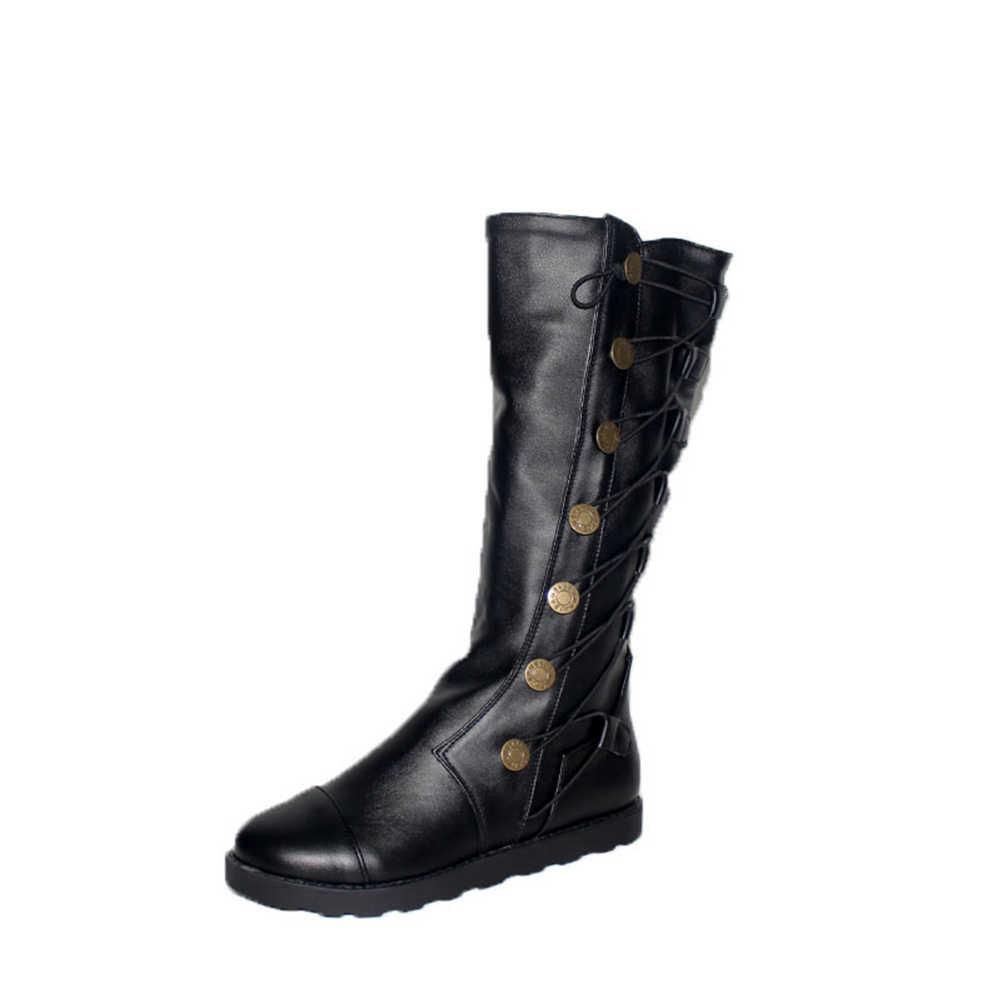 2019 Sonbahar Kış Büyük Boy 34-43 Batı Sıcak Satış Kadın orta buzağı düz çizmeler Dropship Rahat Takozlar Ayakkabı kadın
