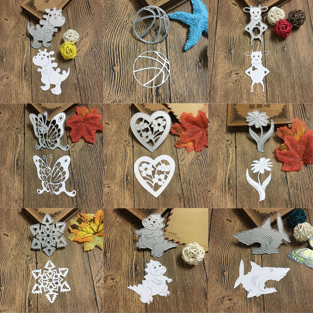 Metal Cutting Dies Stencil DIY Scrapbooking Embossing Crocodile Snowflake Butterfly Ball 1pc New troqueles de corte de
