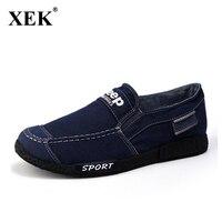 Mannen Jeans Schoenen 2017 Herfst Nieuwe Aankomst Mannen Casual Flats lage Top Mannen Bootschoenen Mannelijke Ademende Oude Peking Gumshoe XC81