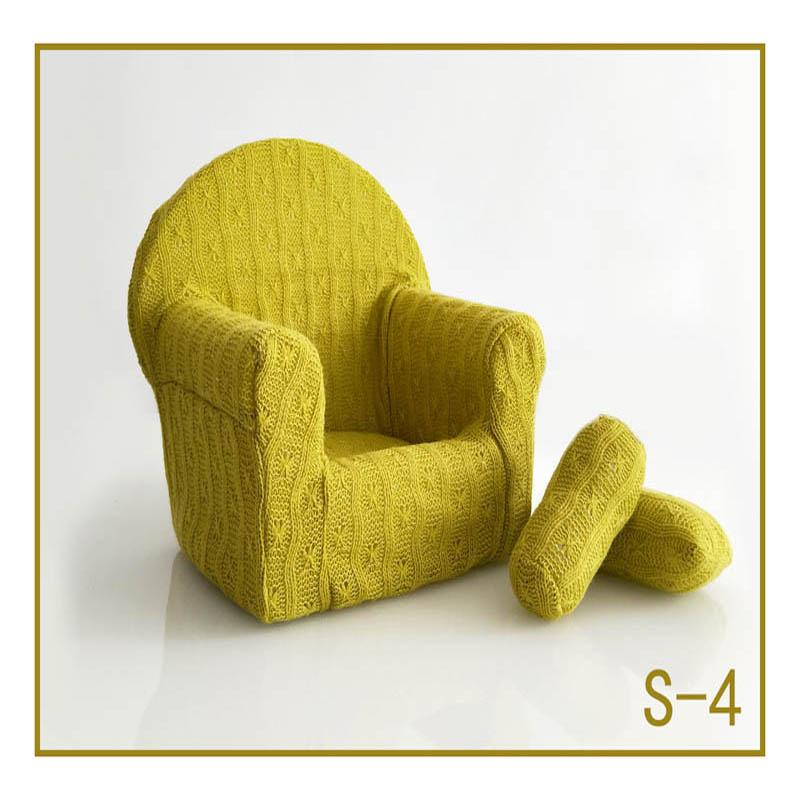 Реквизит для фотосъемки новорожденных, позирующий мини-диван, кресло на руку и 2 подушки, реквизит для фотосессии, студийные аксессуары для детей 0-3 месяцев - Цвет: 18