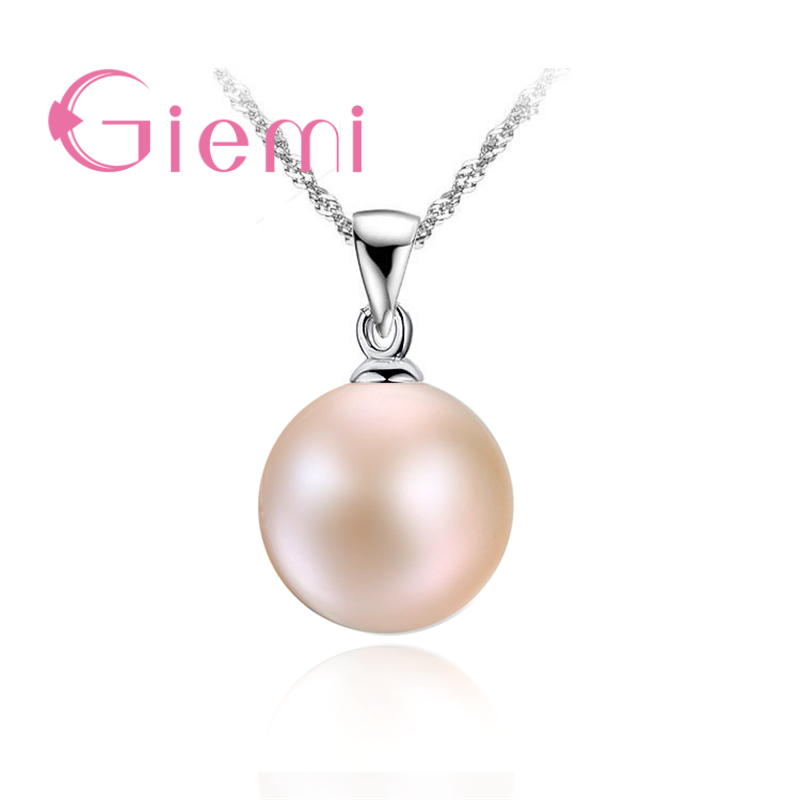 Classic Pearl Necklace For Women 925 Sterling Silver Chain Vintage Fashion Pendant Charming Wedding Anniversary Gifts Hot
