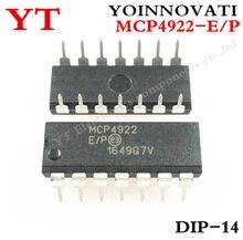 5 pièces MCP4922-E/P MCP4922 4922-E/P DAC 12BIT DUAL W/SPI 14DIP meilleure qualité