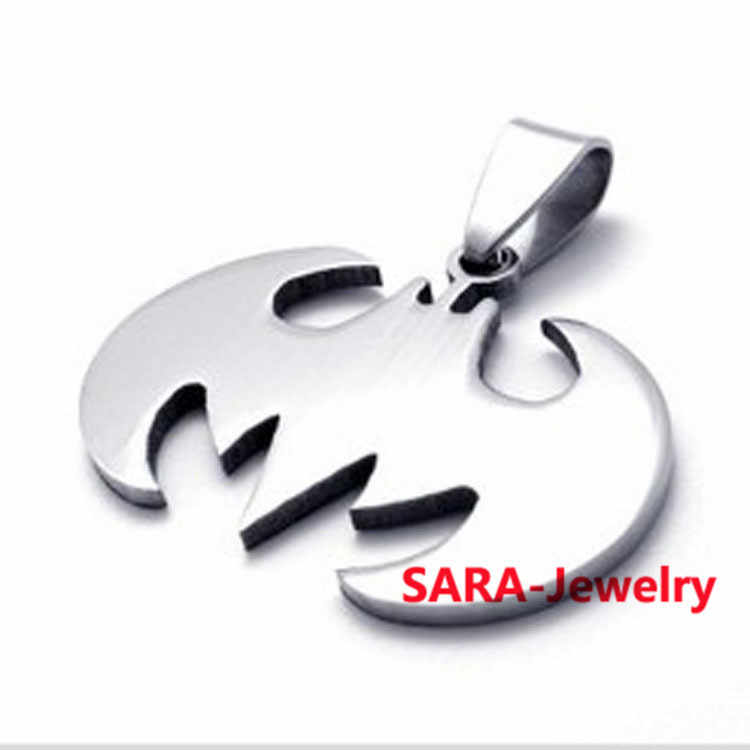 FYSARA Stainless Steel Bat Chain Link Pendant Necklaces For Men Jewelry Silver Necklace Hip Hop Punk Rock Personality Necklace