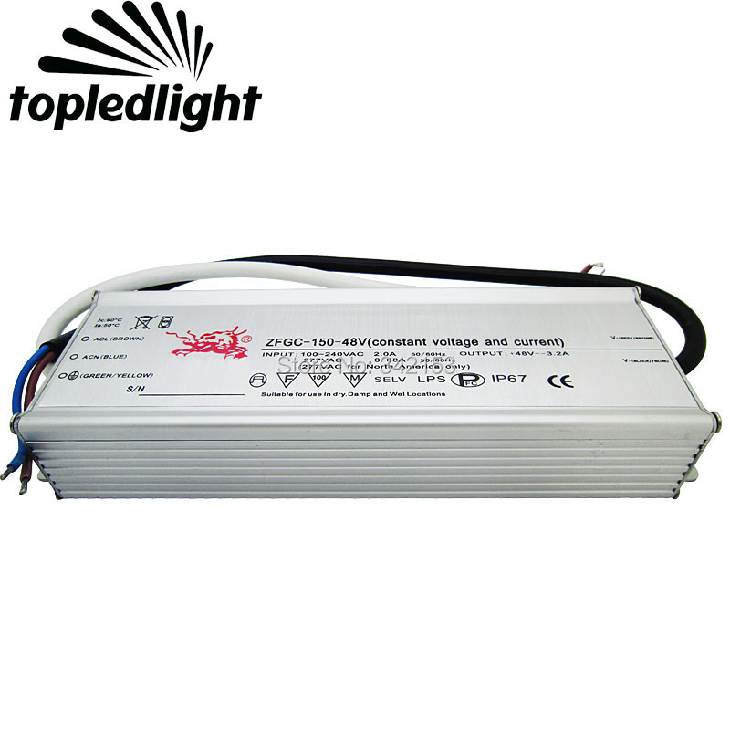 IP67 Waterproof Lighting Transformers 38-48V 3.2A 150W High Power Constant Current Led Driver For DIY Lamp Light Power Supply 200w led driver dc36v 6 0a high power led driver for flood light street light ip65 constant current drive power supply