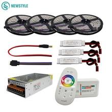 5050 RGBW/RGBWW набор гибких светодиодных лент с 2,4G сенсорным РЧ пультом дистанционного управления+ 12 В адаптер питания+ усилитель 5 м/10 м/15 м/20 м