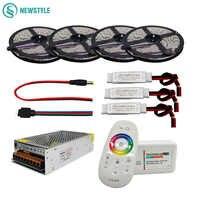 5 м 10 м 15 м 20 м 12 В постоянного тока Светодиодная лента 5050 SMD светодиодный гибкий светильник 60led/M + 2,4G RF пульт дистанционного управления + адапт...