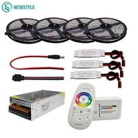 5M 10M 15M 20M DC12V Led RGB 5050 SMD Strip Light Waterproof 2 4G RGB RF