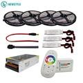 Набор гибких светодиодных лент 5050 RGBW/RGBWW с пультом дистанционного управления 2,4G + адаптер питания 12 В + усилитель 5 м/10 м/15 м/20 м