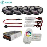 5M 10M 15M 20M DC12V Led bande 5050 SMD Led lumière Flexible 60led/m + 2.4G RF télécommande + adaptateur secteur + Kit amplificateur