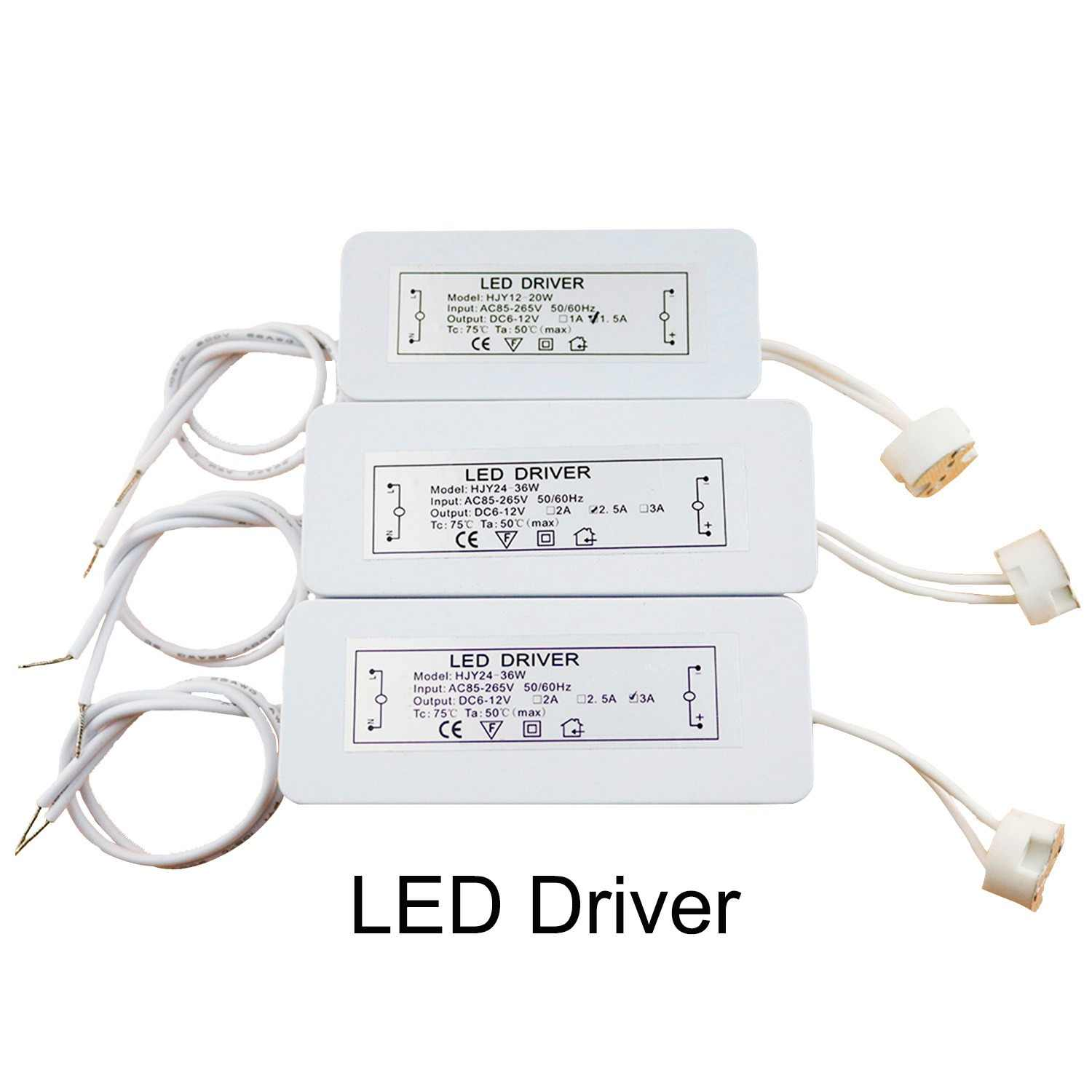 LED Driver Electronic Transformer 3W-36W AC85-265V to DC12V Lamp Cup MR16 G4 MR11 GU5.3 Bulb Spotlight High Power Converter JQ