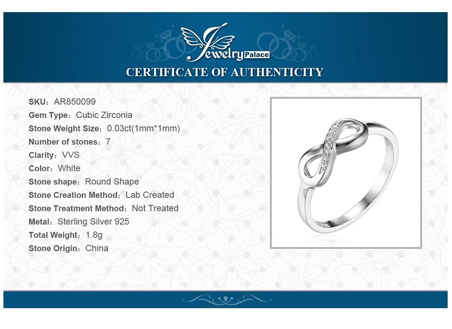 Jewelrypalace infinity selamanya cinta cubic zirconia anniversary - Perhiasan fashion - Foto 6
