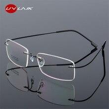 1562f01d3def UVLAIK Rimless Titanium Eyeglasses Frames Women Men Flexible Optical Frame  Prescription Spectacle Frameless Glasses Eye glasses