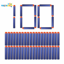 VICIVIYA 100Pcs for Nerf Soft Toy Gun Bullets Round Head Air Hole Foam Darts Bullet 7.2cm for N-strike Elite Series Blasters(China)