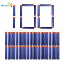 VICIVIYA 100Pcs Soft Toy Gun Bullets Round Head Air Hole Foam Darts Bullet 7.2cm