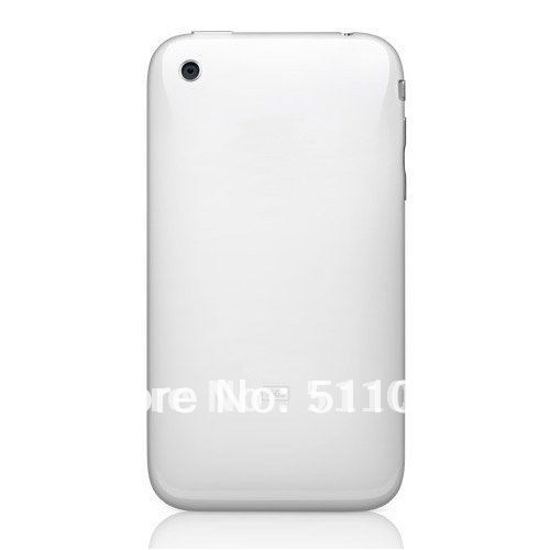 HQ Back Cover Housing with Chrome Bezel Frame for iPhone 3G by free shipping; White