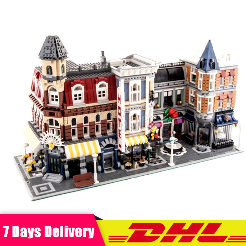 IN Stock 2133 PCS LEPIN 15002 Cafe Corner +15019 4002pcs Assembly Square Model Building Kits Toys MOC Legoinglys 102555 10182 in stock with light 15019b 4122pcs lepin 15019 4002pcs assembly square city serie model building kits brick toy compatible 10255