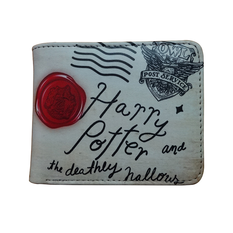 New Arrival Cartoon Purse Movies Anime Harry Potter Wallets PU Leather Card Holder Gifts Women Men Short Wallet portefeuille 2018 new designer wallet spiderman pu leather card bags men casual purse gift anime cartoon spider pvc short wallets portafoglio