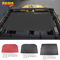 BAWA Car Cover for Jeep Wrangler TJ 1996 2006 SunShade Roof Top Mesh UV Proof Protection Net Accessories for Jeep Wrangler tj