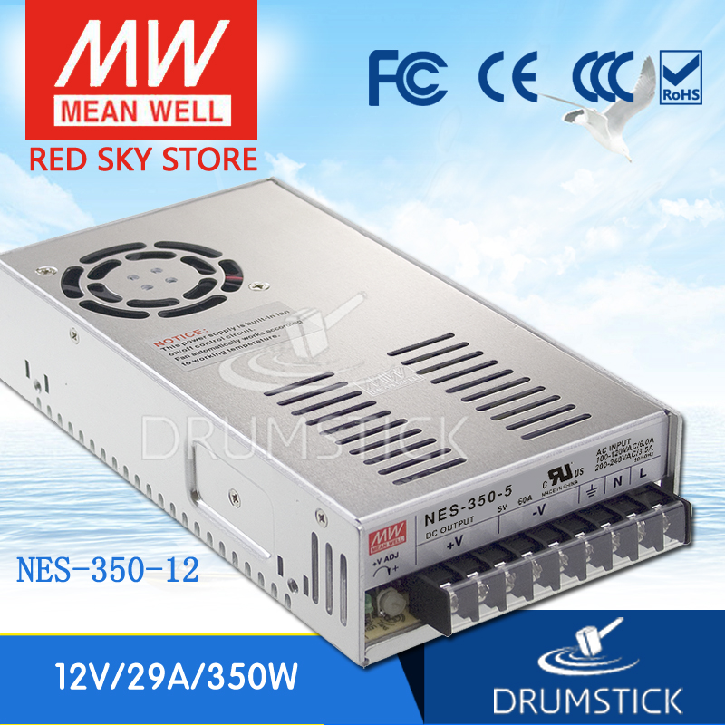 (12.12)MEAN WELL NES-350-12 12V 29A meanwell NES-350 348W Single Output Switching Power Supply [cb]mean well original nes 350 3 3 2pcs 3 3v 60a meanwell nes 350 3 3v 198w single output switching power supply