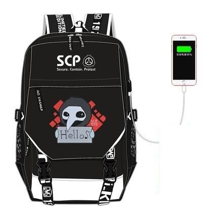 Haute qualité unisexe Anime Cos SCP sacs à dos étudiant sac à dos unisexe procédures de confinement spéciales étudiant décontracté cosplay sac à dos