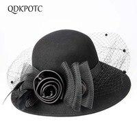 QDKPOTC Fashion Nylon Striped Fedoras Adult Winter Small Fedora Hats for Women Men Neutral Floppy Jazz Caps