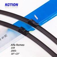 Car Windshield Wiper Blade For Alfa Romeo 159 2005 18 24 Natural Rubber Bracketless Car Accessories
