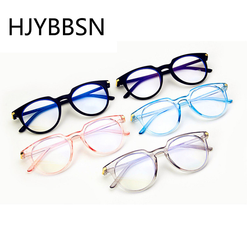 HJYBBSN Anti-blue Light Round Women's Reading Glasses Trendy Vintage Daily Eyeglasses Luxury Brand Designer Driver Eyeglasses