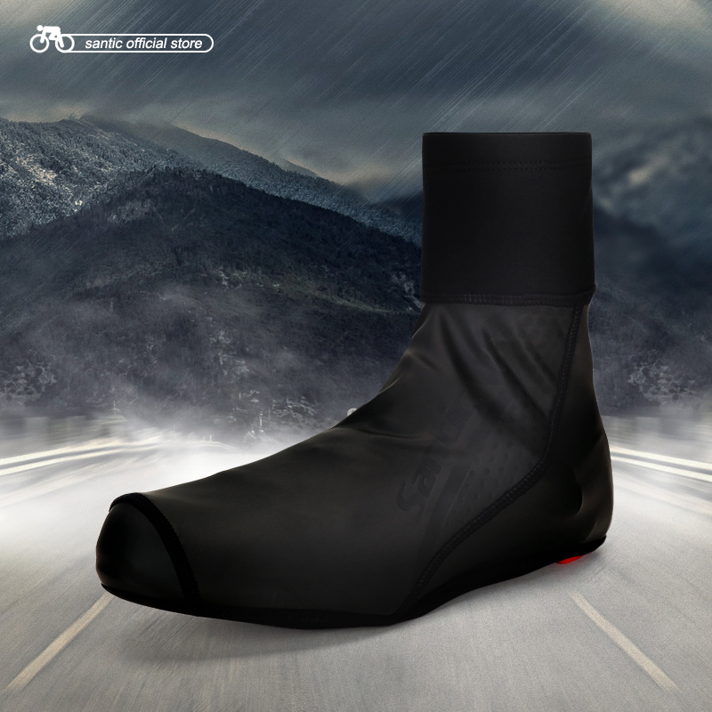 Santic Men Cycling Shoes Cover Windproof MTB Road Bike Bicycle Overshoes Winter Shoes Cover Shoes Shoes Protector 5C09047
