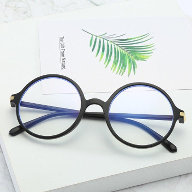 2019 Men Women Glasses Frame Men Anti Blue Light Eyeglasses Frame Vintage Round Clear Lens Glasses Optical Spectacle Frame