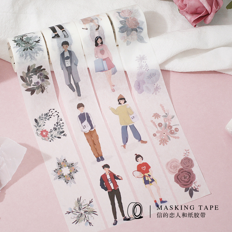 2pcs/pack Dating Boys Girls Washi Tape Set Diy Scrapbooking Sticker Label Masking Tape School Office Supply Japanese Stationery