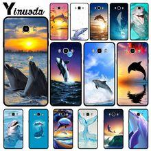 Yinuoda Dance Of Dolphin Soft Silicone Black Phone Case For Samsung Galaxy j6plus j7 prime j8 j2 j4plus 2018 Mobile Cases