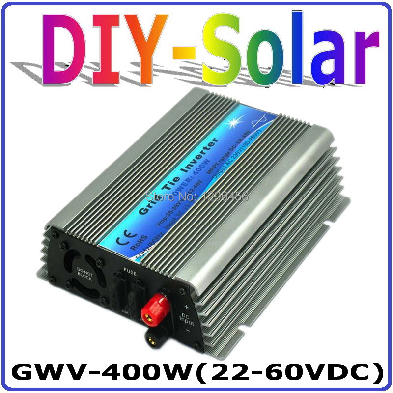 400W Grid Tie Inverter for 30V 60Cells and 36V 72Cells Solar Panel, MPPT function, Pure Sine wave Micro On Grid Tie Inverter 500w micro grid tie inverter for solar home system mppt function grid tie power inverter 500w 22 60v