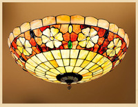 Carcasa barroca mediterránea E27 110 240V LED Tiffany retro luces de techo luminaria teto lámparas de techo para la decoración del hogar|ceiling lamp|ceiling lights|lamp for home -