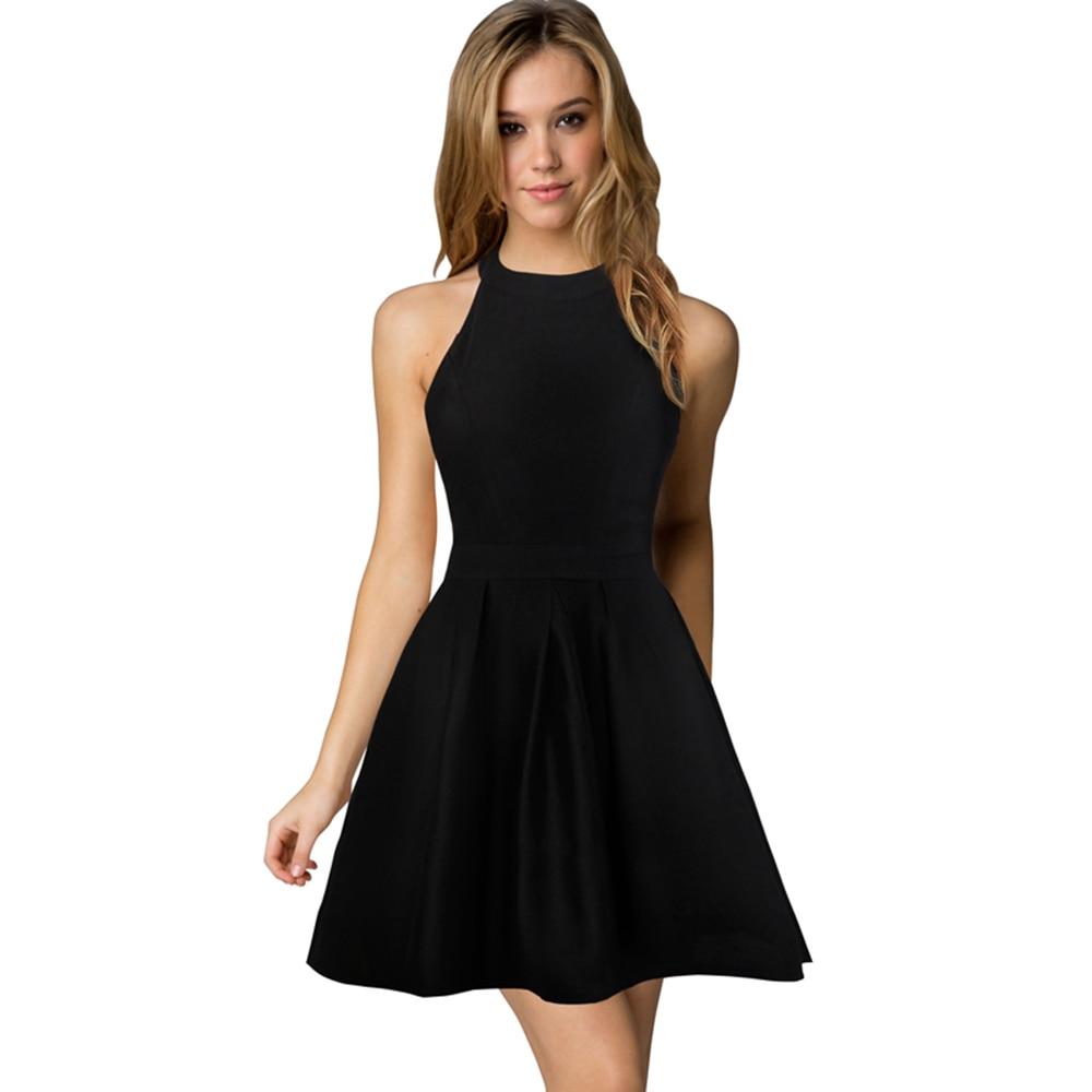 Black Girl Clothing: Berydress 1950 Audrey Hepburn Black Dresses 2017 Robe De