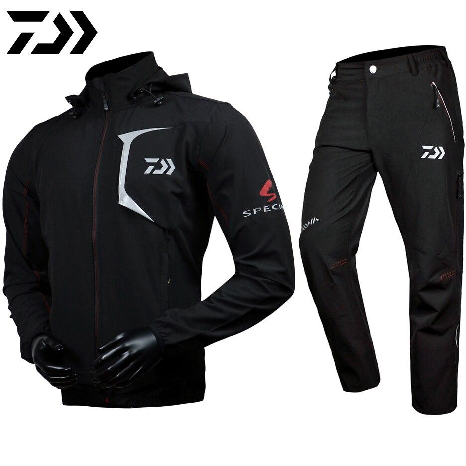 Daiwa Дава 2018 Рыбалка одежда брюки пальто Дава костюм с капюшоном солнцезащитный крем Куртка парка Водонепроницаемый дышащий человек Костюмы