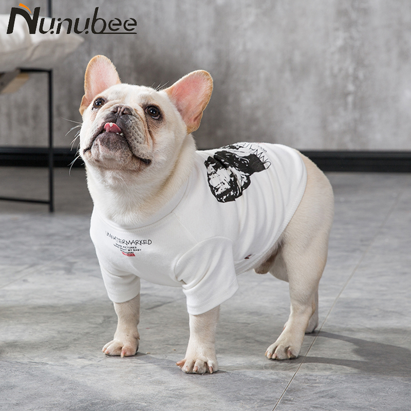 Nunubee Fashion French Bulldog Pattern Dog Clothes Coat Dogs Pets Clothing for Small Large Dogs XS-3XL