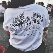 kuakuayu HJN Sailor Moon Girl Screen Printing White T-Shirt 90s Kawaii Grunge Aesthetic Anime Tee Cute Manga Shirt 4 Styles