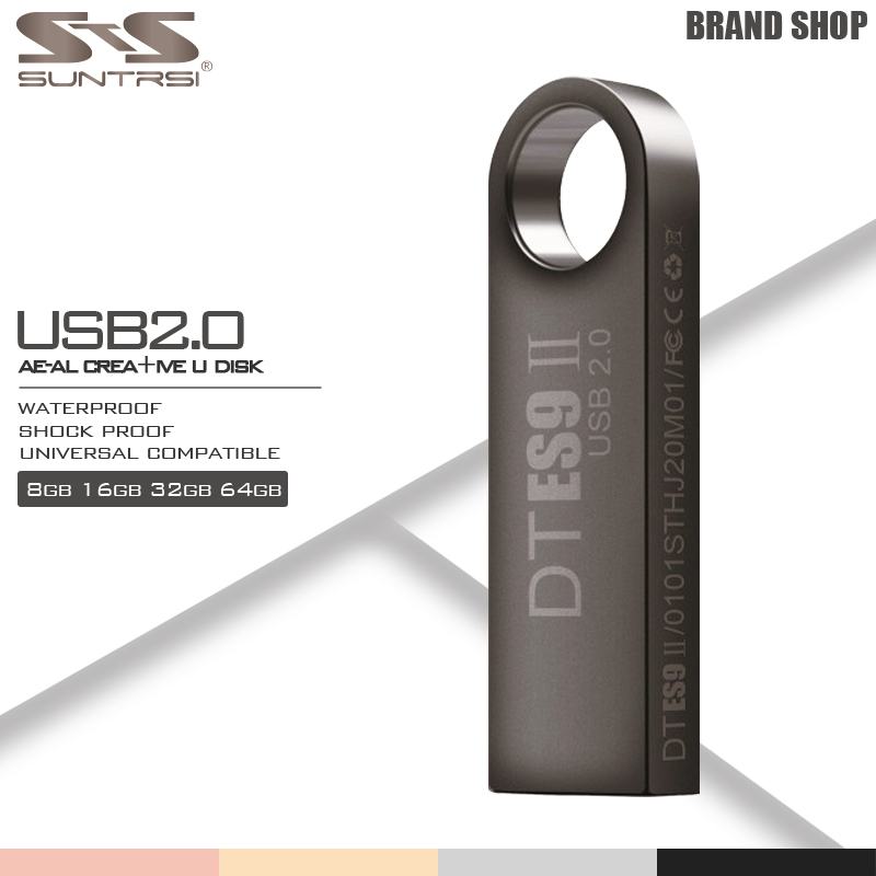 Suntrsi Pendrive High Speed USB Stick Metal USB Flash Drive Flash 64GB Real Capacity Pen Drive Customized Flash Drive USB Flash usb flash drive pendrive 128gb usb pen drive flash drive flash usb stick 2 0 3 0 metal grenade pistol 64mb 4gb 8gb 16gb 32gb 64g