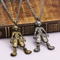 Kingdom Hearts necklace  Sora model pendant non-fade metal chain collar necklace wholesale price free shipping