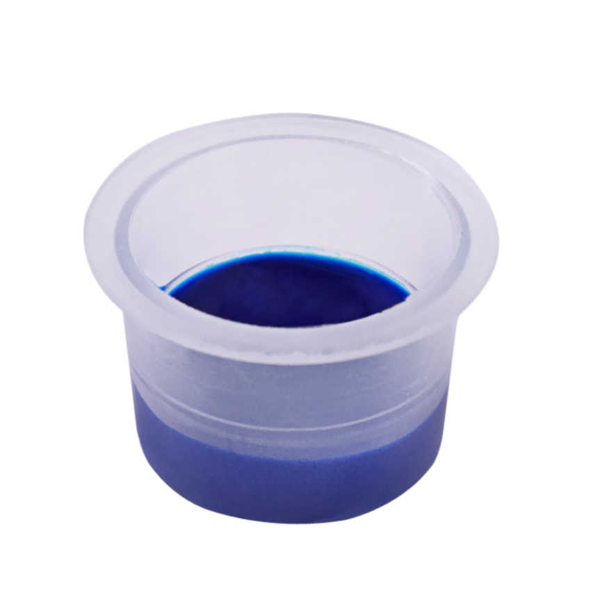 """קעקוע כוסות דיו פיגמנט דבק מיכל כובעי ערכת 9/12/15 מ""""מ 100 יחידות עבור קבוע איפור גבות שפתיים אייליינר גוף אמנות אספקת כלים"""
