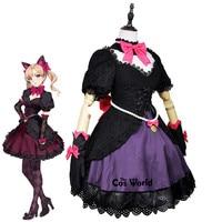 OW D.Va Hana Song Black Cat Luna Tee Dress Uniform Outfit Anime Cosplay Costumes