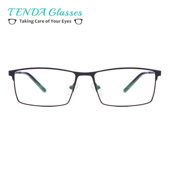 TendaGlasses Metal Full Rim Glasses Men Rectangle Prescription Eyeglass Frames For Optical Lenses Myopia and Reading