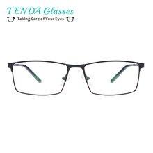 f3002ee9e6b4cd TendaGlasses Metalen Volledige Velg Bril Mannen Rechthoek Recept  Brilmonturen Voor Optische Lenzen Bijziendheid en Lezen