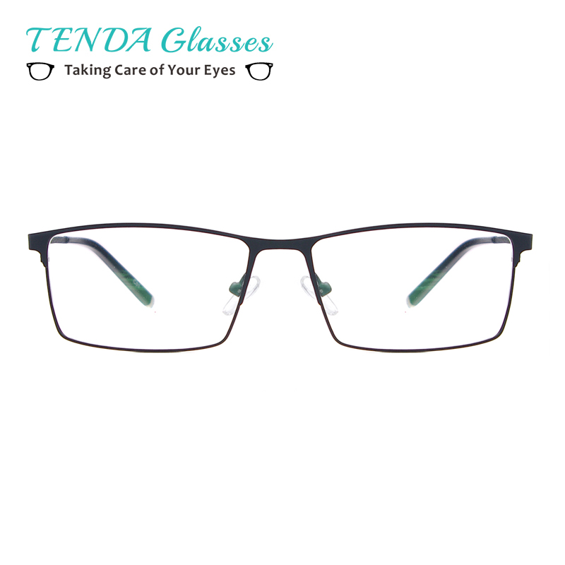 TendaGlasses Metal Full Rim Glasses Men Rectangle Prescription Eyeglass Frames For Optical Lenses Myopia And Reading