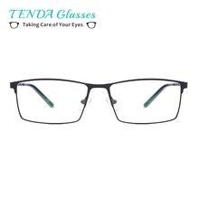 TendaGlasses Metal Full Rim Glasses Men Rectangle Prescripti
