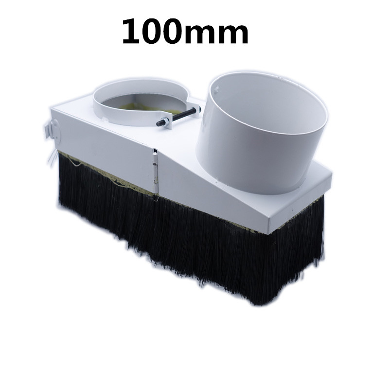 100MM duct collector device 100mm dust collector cover suitable for 3kw water cool spindle dust cover cnc high quality cyclone filter dust collector wood working for vacuums dust extractor separator cnc machine construction